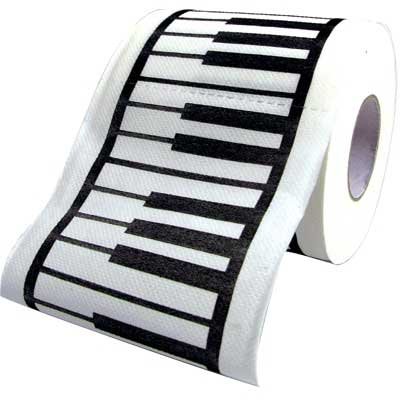 Keyboard toilet paper