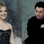 portraits of Renée Fleming and Evgeny Kissin