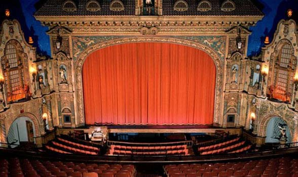 state theater red curtain