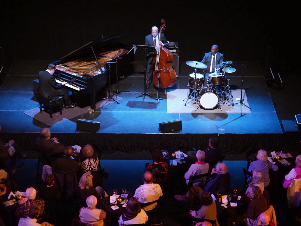 Bill Charlap Trio performing on stage