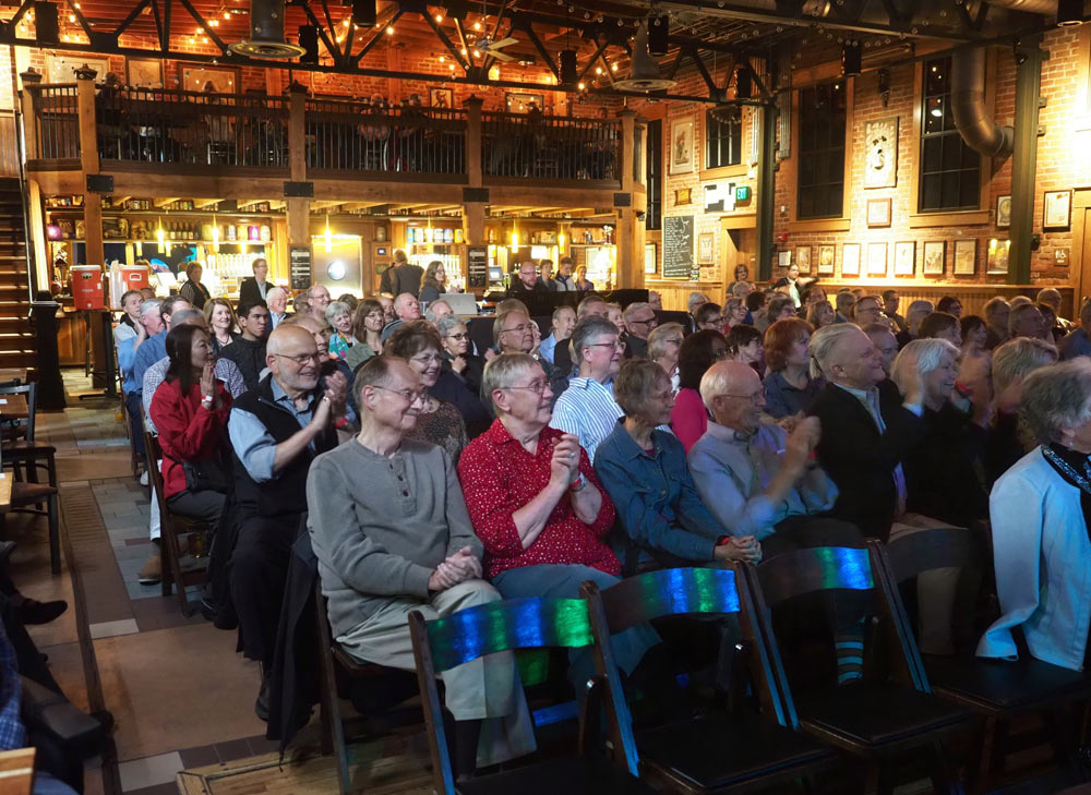 audience clapping after performance