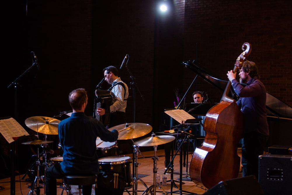 Julien Labro Quartet performing on stage