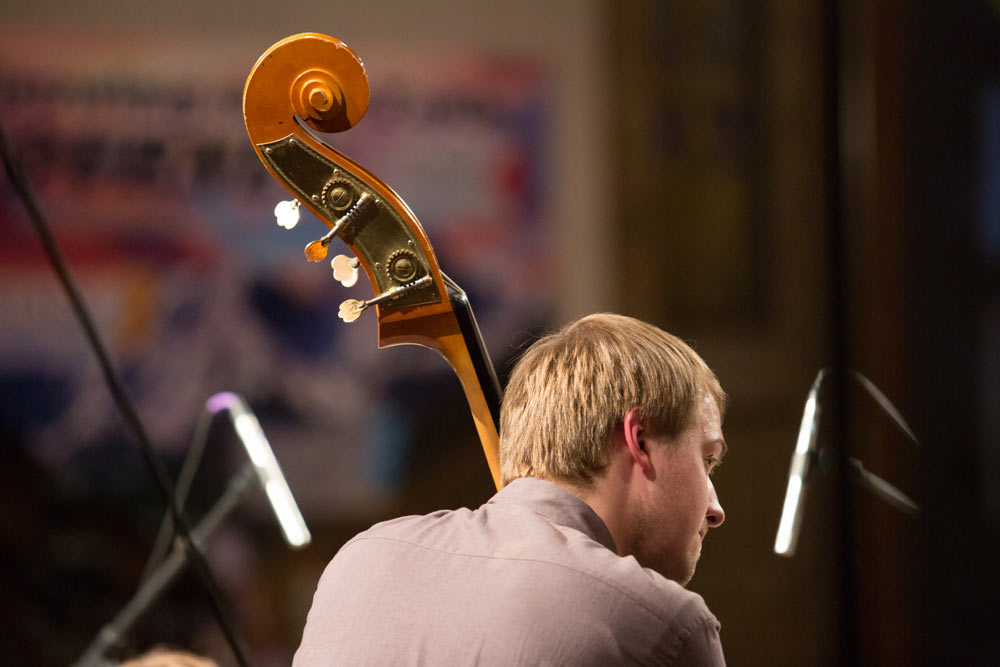 close up of gentleman playing instrument