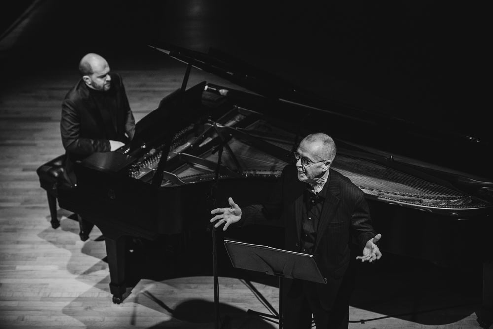 Kirill Gerstein and D. Terry Williams performing on stage