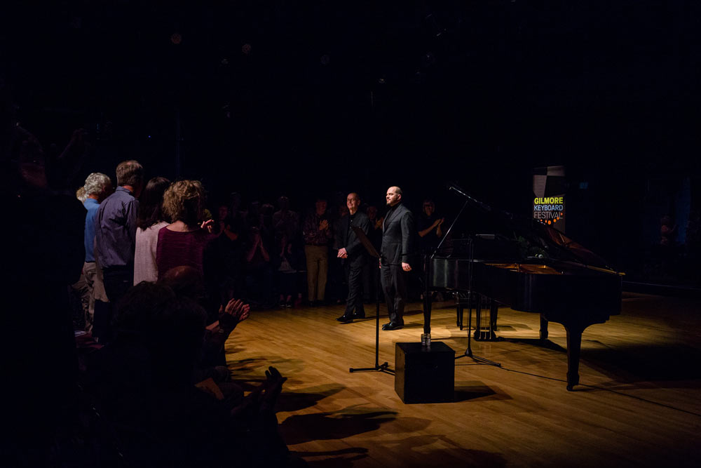 Kirill Gerstein and D. Terry Williams standing on stage