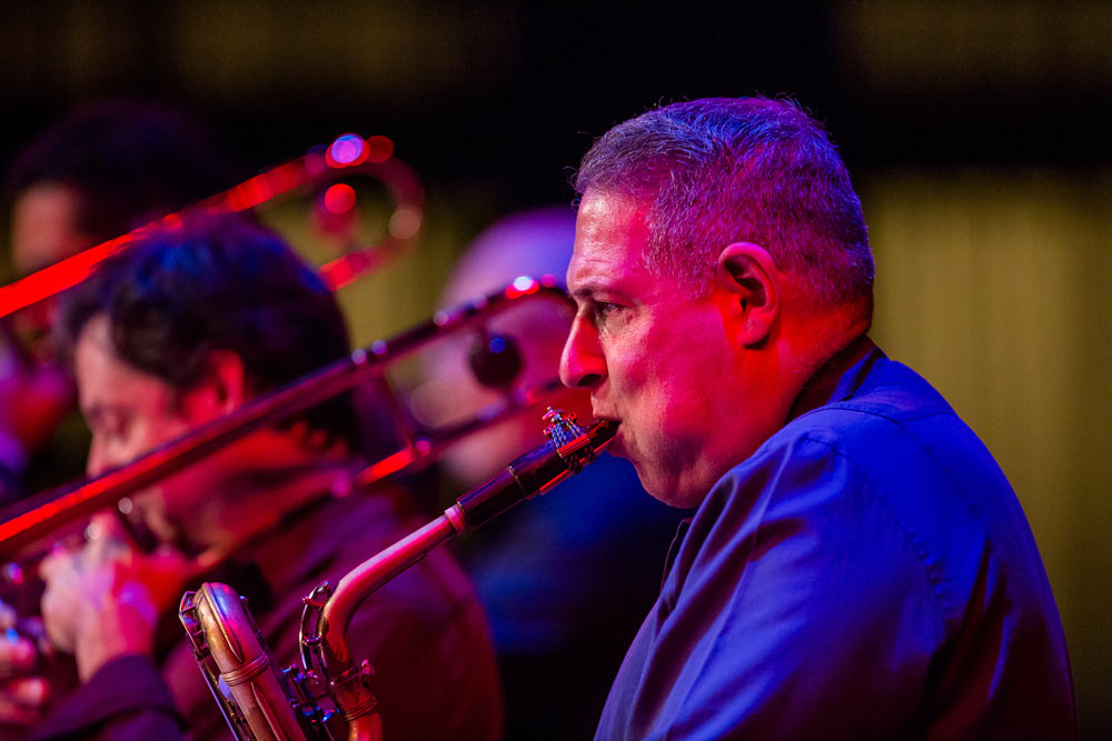 close up of Spanish Harlem Orchestra on stage