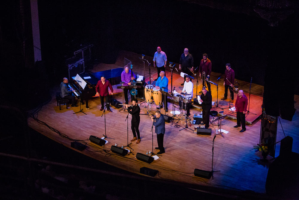 Spanish Harlem Orchestra performing at Chenery Auditorium