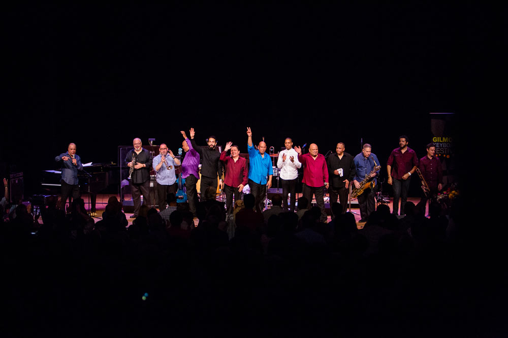 Spanish Harlem Orchestra waving to the audience after performance