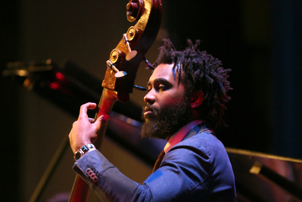close up of gentleman playing instrument on stage