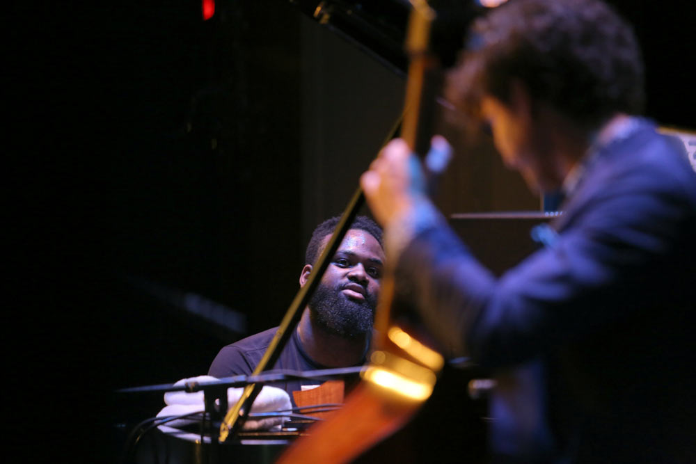 James Francies Trio performing on stage