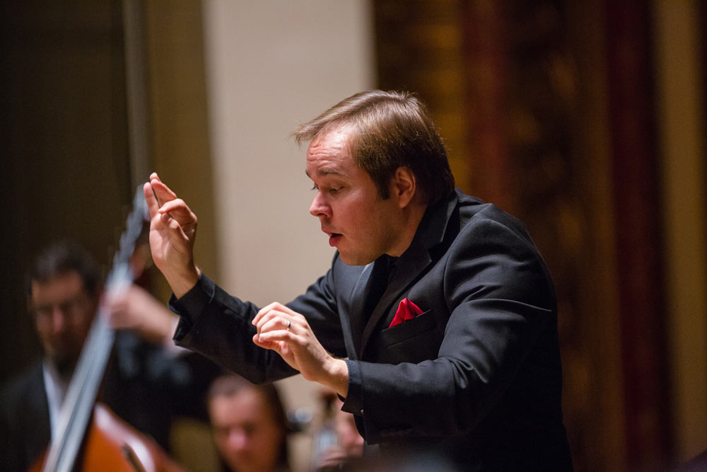 close up of gentleman conducting