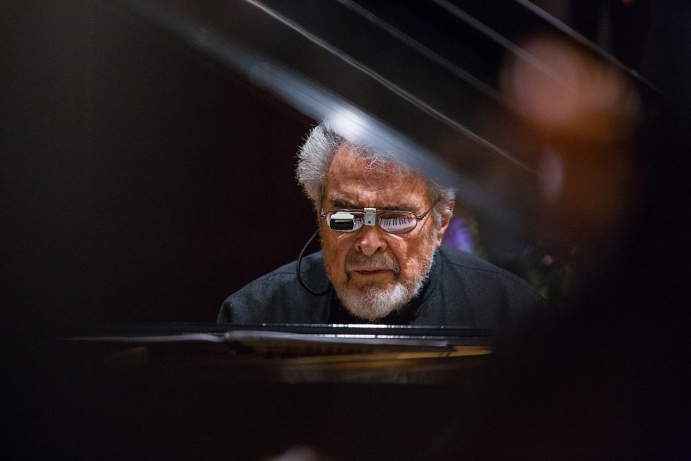 close up of Leon Fleisher