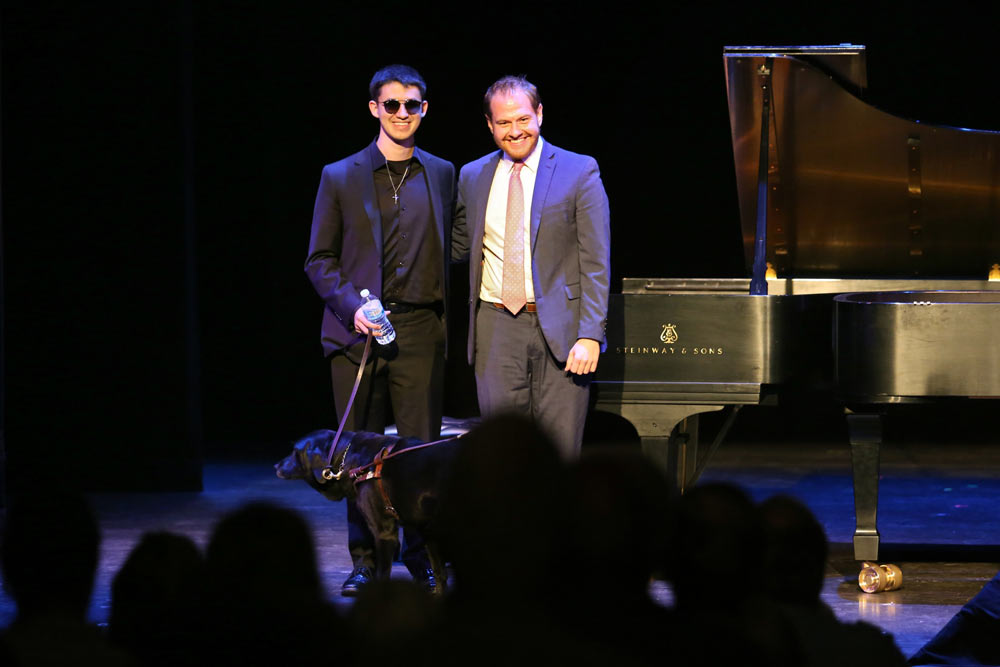 Jeremy Siskind & Justin Kauflin smiling on stage