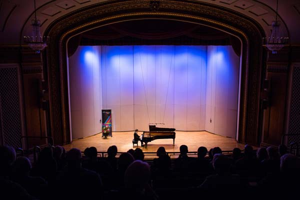 Daniil Trifonov performing before a crowd