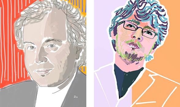 portraits of Schiff and Rabinovich