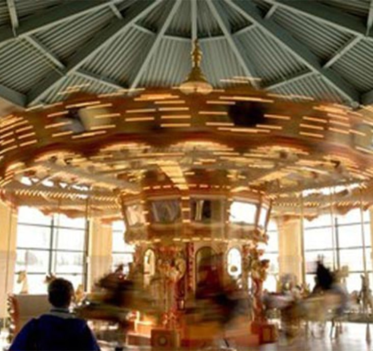 merry go round at crossroads mall