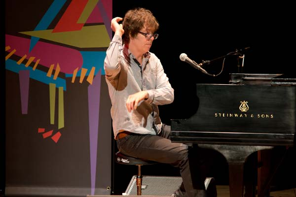 Ben Fold on stage at Chenery Auditorium