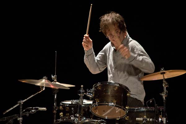 Ben Folds playing the drums