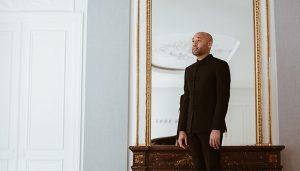 Aaron Diehl standing for portrait
