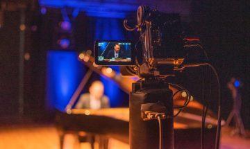 video camera filming mackenzie melemed performance