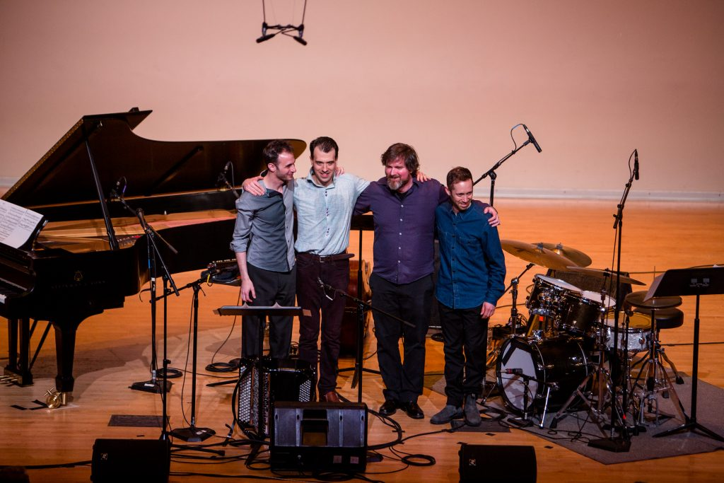 Julien Labrio quartet stands for applause
