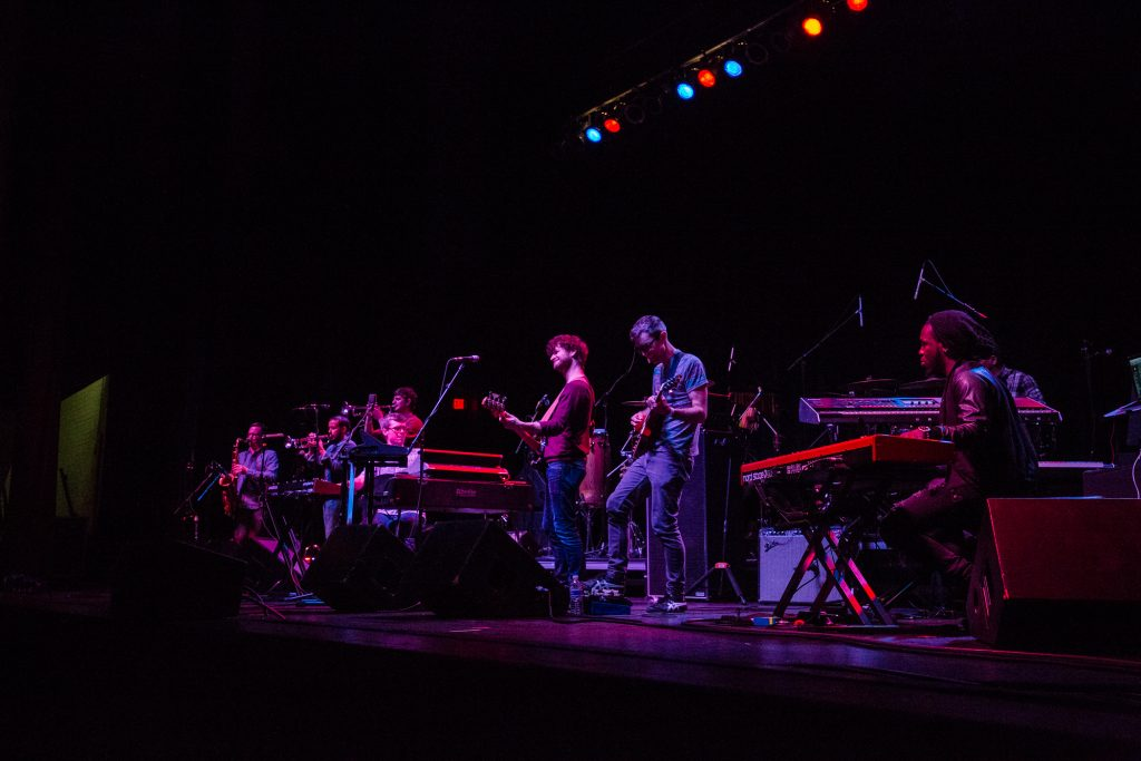 Snarky Puppy on stage at 2018 gilmore keyboard festival